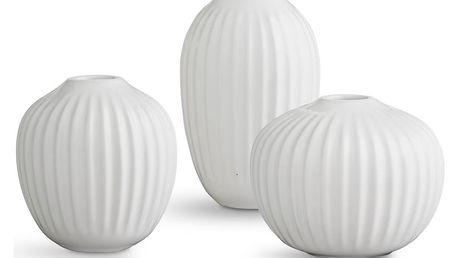 KÄHLER Dárkové balení miniváz Hammershøi White - set 3 ks, bílá barva, keramika