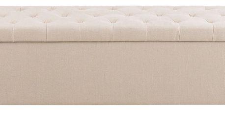Krémová lavice s úložným prostorem Actona Contessa