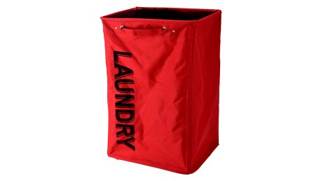 Koš na špinavé prádlo, červená, 100 % PES, 40 x 60 x 33 cm