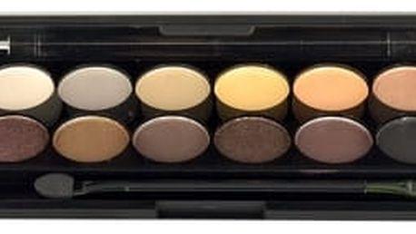 Sleek MakeUP I-Divine Eyeshadow Palette 13,2 g oční stín pro ženy 601 Au Naturel