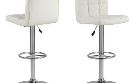 Sada 2 bílých barových židlí Actona Hot
