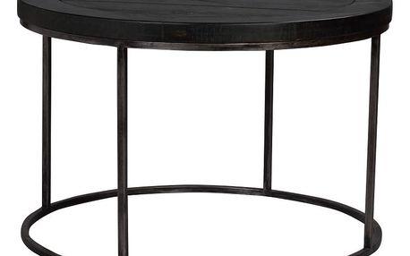 Černý dřevěný konferenční stolek Folke Brogge