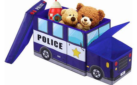 Dětská taburetka s úložným prostorem JOCCA Police Car