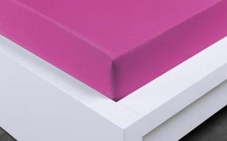 XPOSE ® Jersey prostěradlo Exclusive dvoulůžko - nachová 200x220 cm