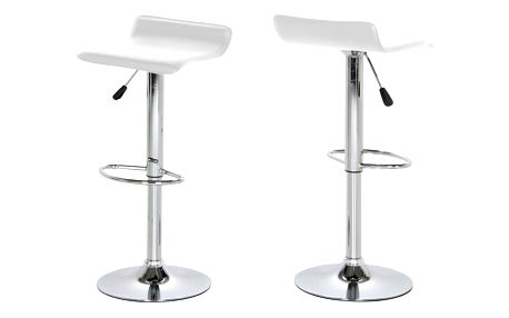 Sada 2 bílých barových židlí Actona Dan