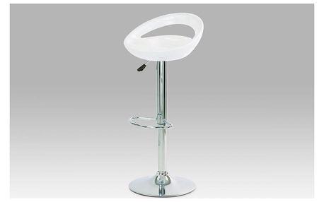 (AUB-403 WT) Barová židle, chrom / plast bílý AUB-1030 WT Autronic