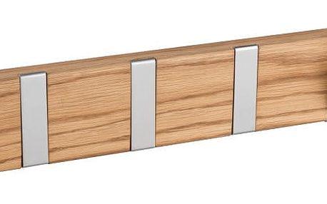 Přírodní věšák z dubového dřeva s 6 výklopnými háčky Folke Confetti