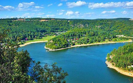 Jižní Morava v penzionu nedaleko Vranovské přehrady s bazénem se slanou vodou, vířivkou, masážním křeslem a polopenzí