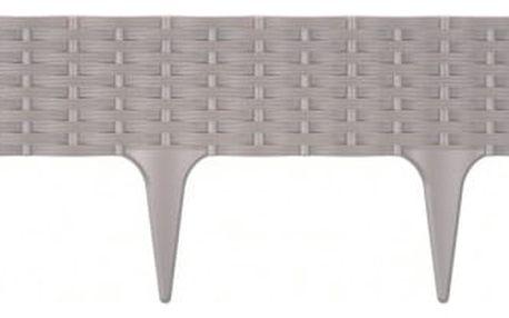 Prosperplast Travní lem Rattan šedá, 390 cm