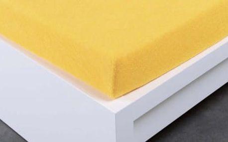 XPOSE ® Froté prostěradlo jednolůžko - žlutá 90x200 cm
