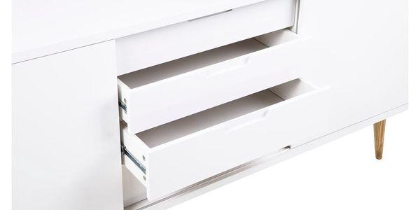Bílá dvoudveřová komoda se 4 zásuvkami Actona Elise - doprava zdarma!2