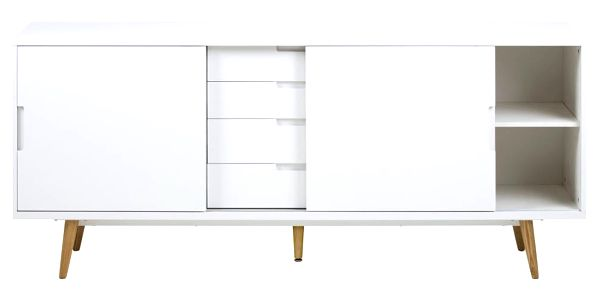 Bílá dvoudveřová komoda se 4 zásuvkami Actona Elise - doprava zdarma!3