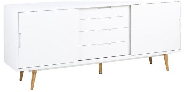 Bílá dvoudveřová komoda se 4 zásuvkami Actona Elise - doprava zdarma!5