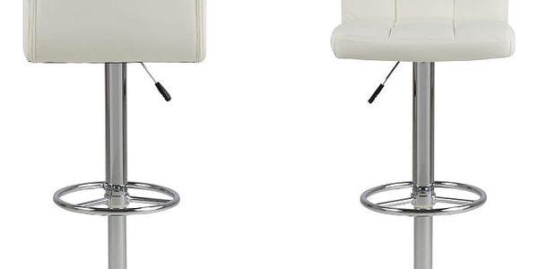 Sada 2 bílých barových židlí Actona Hot - doprava zdarma!3