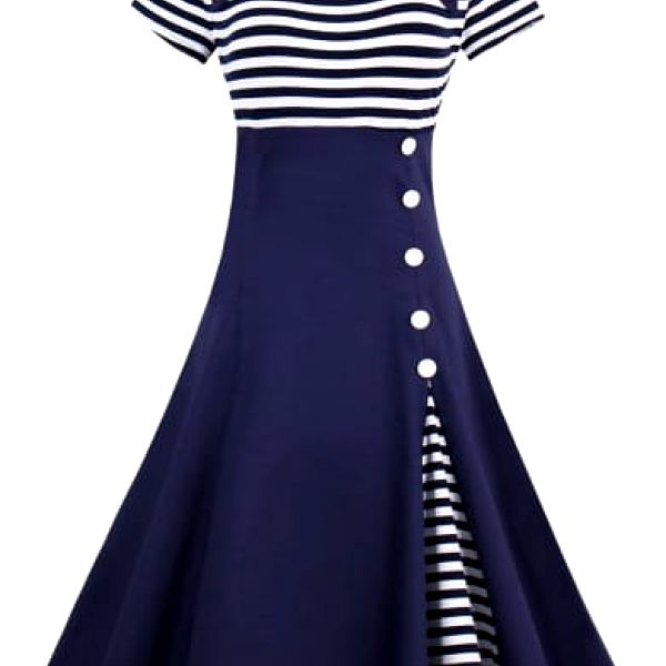 Námořnické retro šaty - 3 barvy