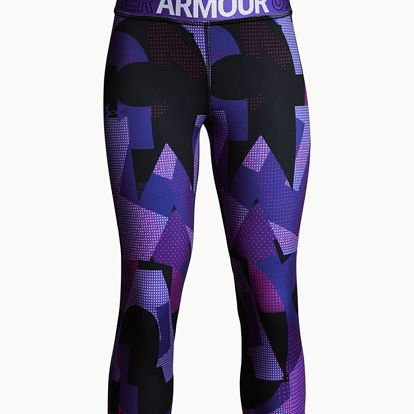 Legíny Under Armour Heatgear Nov. Capri Fialová