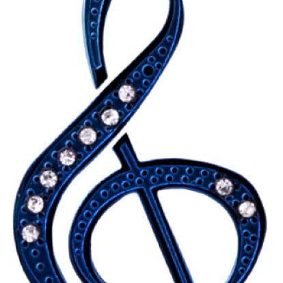 Fashion Icon Přívěsek houslový klíč chirurgická ocel