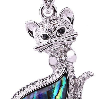 Fashion Icon Přívěsek kočička Paua perleť malá