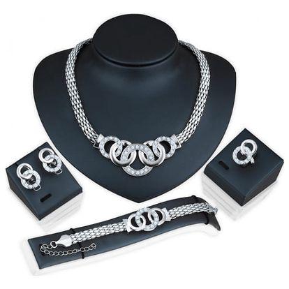 Sada šperků s kroužky a kamínky