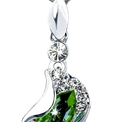 Fashion Icon Přívěsek s řetízkem slza s krystaly Swarovski elements