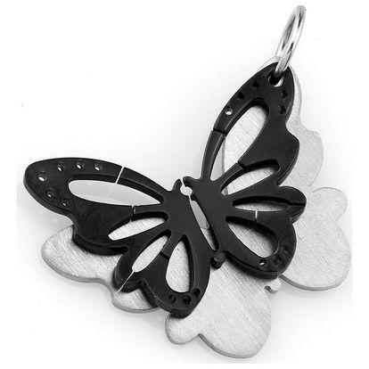 Fashion Icon Přívěsek barevný motýl z chirurgické oceli
