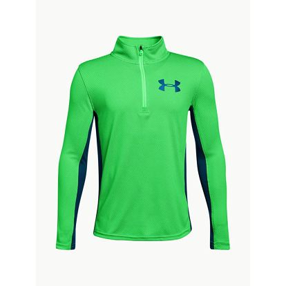 Mikina Under Armour Textured Tech 1/4 Zip Zelená