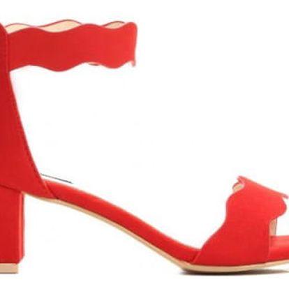 Dámské červené sandály na podpatku Celyn 2203