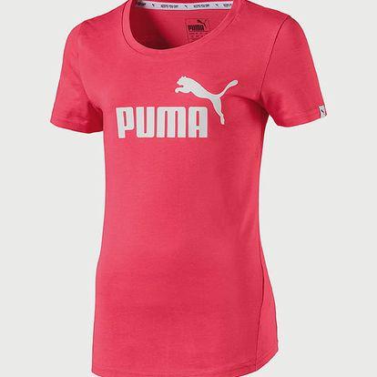 Tričko Puma Style ESS Logo Tee G Růžová