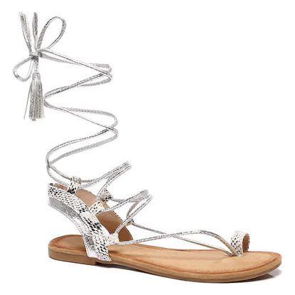 Dámské stříbrné sandály Kirsten 6010