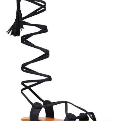 Dámské černé sandály Yoyo 1051