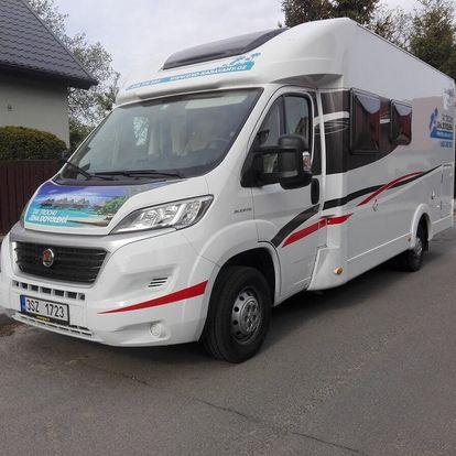 Pronájem komfortního karavanu na 2-7 dní + dálniční známka
