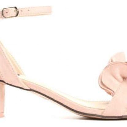 Dámské růžové sandály na podpatku Sara 1486