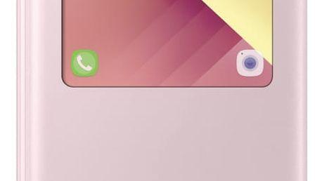 Pouzdro na mobil flipové Samsung S-View pro Galaxy A5 2017 (EF-CA520P) růžové (EF-CA520PPEGWW)