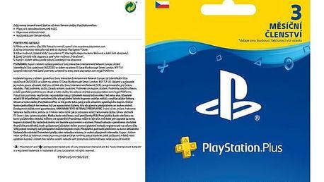 Předplacená karta Sony PlayStation Plus Card 90 dní - pouze pro CZ PS Store (PS719810742)