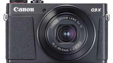 Digitální fotoaparát Canon PowerShot PowerShot G9 X Mark II Black černý + dárky (1717C002)