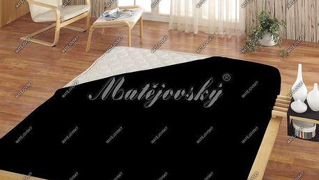 Matějovský prostěradlo froté černá, 180 x 200 cm