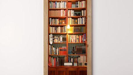 Tapeta na dveře WALPLUS Vintage Bookcase, 88 x 200 cm