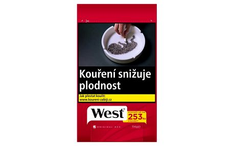 Tabák cigaretový West Red 111g