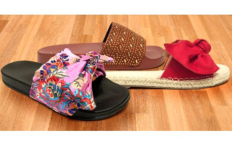 Elegantní dámské letní pantofle