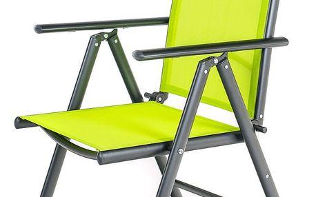 HAPPY GREEN Židle polohovací RAMADA 56,5 x 42,5 x 107 cm, světle zelená