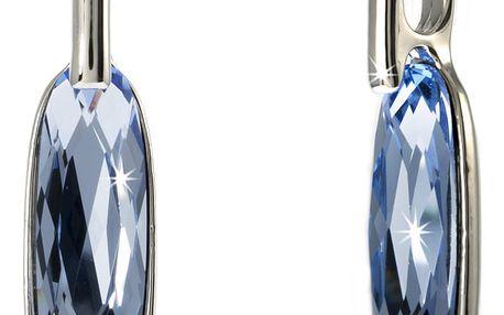 Fashion Icon Přívěsek oválný krystal pokovaný platinou