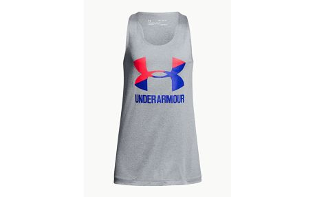 Tílko Under Armour Big Logo Slash Tank Šedá