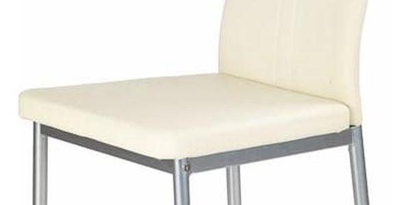 Jídelní židle K202 krémová2