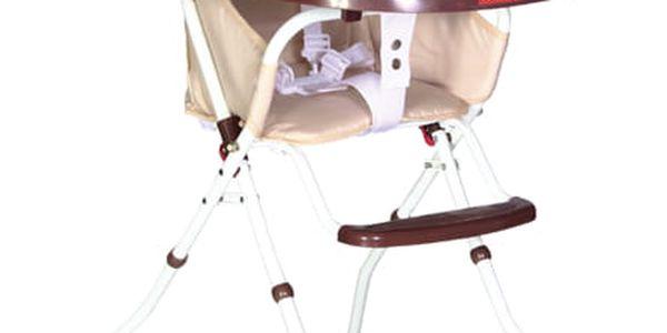 PATRON Jídelní skládací židlička Bee 2018 – Owl brown