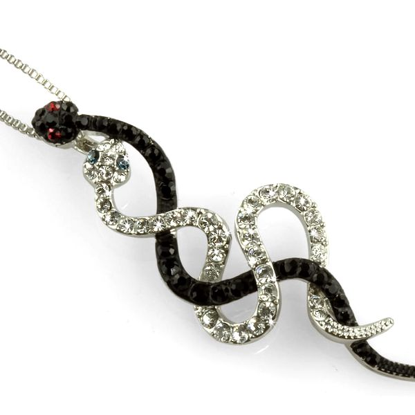 Fashion Icon Přívěsek s řetízkem propletení hadi