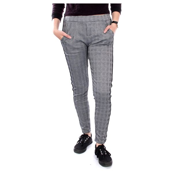 Eleuek Dámské kalhoty kostkované