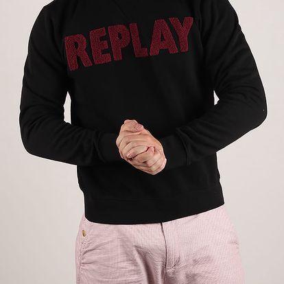 Mikina Replay M3436A Sweatshirt Černá