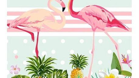 Plážová osuška s potiskem HIP Flamingo, 150 x 75 cm