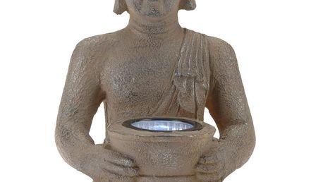 Solární lampa Buddha, 31 cm