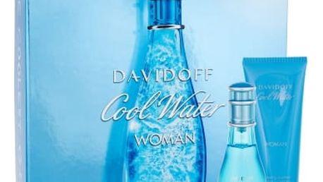 Davidoff Cool Water Woman 50 ml dárková kazeta dárková sada pro ženy toaletní voda 50 ml + tělové mléko 75 ml